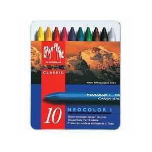 Caja Surtida 10 Colores Pasteles Acuarelables Neocolor II Caran d Ache