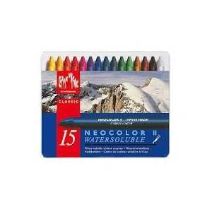 Caja Surtida 15 Colores Pasteles Acuarelables Neocolor II Caran d Ache