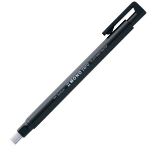Portagoma 2,5x5mm. Rectangular Tombow Mono Zero Recargable Negro