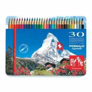 Caja Metálica 30 Lápices Acuarelables 3mm. Prismalo Caran d Ache