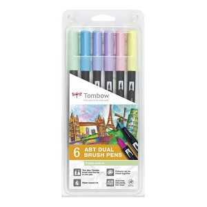 Set de 6 Rotuladores Tombow ABT colores Pastel