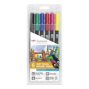 Set de 6 Rotuladores Tombow ABT colores Primarios