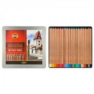 Juego de Lápices Pastel 24 Colores Gioconda . Koh I Noor